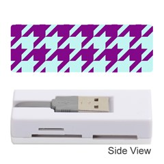 Houndstooth 2 Purple Memory Card Reader (Stick)