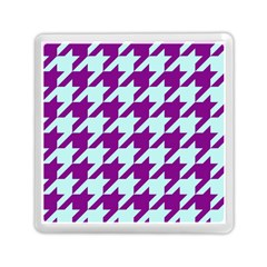 Houndstooth 2 Purple Memory Card Reader (Square)