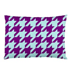Houndstooth 2 Purple Pillow Cases (two Sides)