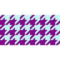 Houndstooth 2 Purple YOU ARE INVITED 3D Greeting Card (8x4)