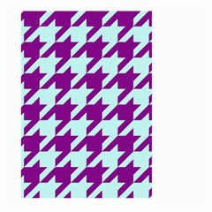 Houndstooth 2 Purple Large Garden Flag (Two Sides)