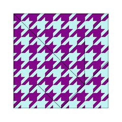 Houndstooth 2 Purple Acrylic Tangram Puzzle (6  x 6 )