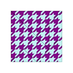 Houndstooth 2 Purple Acrylic Tangram Puzzle (4  x 4 )
