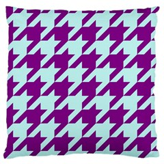 Houndstooth 2 Purple Large Cushion Cases (Two Sides)