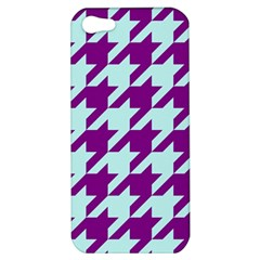 Houndstooth 2 Purple Apple iPhone 5 Hardshell Case