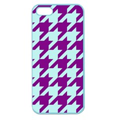 Houndstooth 2 Purple Apple Seamless iPhone 5 Case (Color)