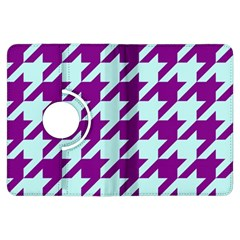 Houndstooth 2 Purple Kindle Fire Hdx Flip 360 Case