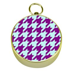 Houndstooth 2 Purple Gold Compasses