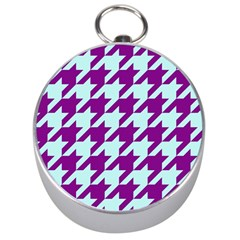 Houndstooth 2 Purple Silver Compasses