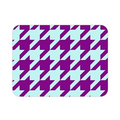 Houndstooth 2 Purple Double Sided Flano Blanket (Mini)