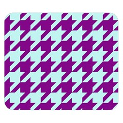 Houndstooth 2 Purple Double Sided Flano Blanket (Small)