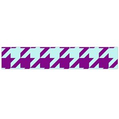 Houndstooth 2 Purple Flano Scarf (Large)