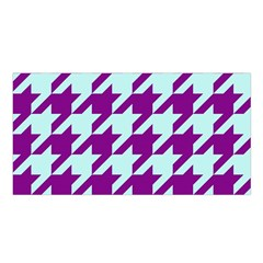 Houndstooth 2 Purple Satin Shawl
