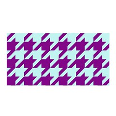 Houndstooth 2 Purple Satin Wrap