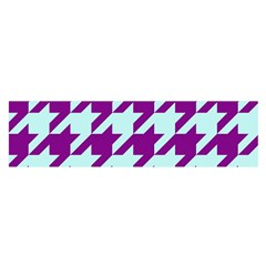 Houndstooth 2 Purple Satin Scarf (oblong)