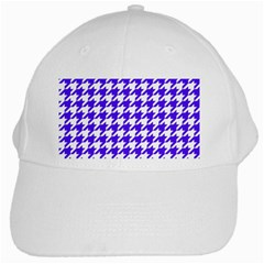 Houndstooth Blue White Cap