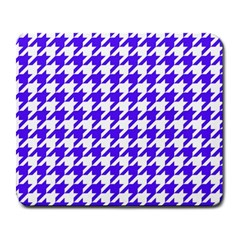 Houndstooth Blue Large Mousepads