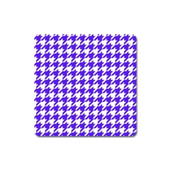 Houndstooth Blue Square Magnet
