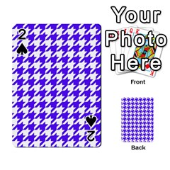 Houndstooth Blue Playing Cards 54 Designs