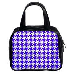 Houndstooth Blue Classic Handbags (2 Sides)