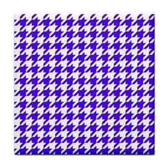 Houndstooth Blue Face Towel