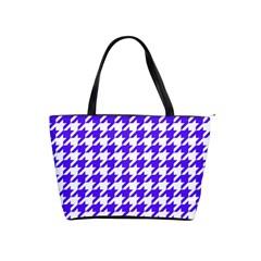 Houndstooth Blue Shoulder Handbags