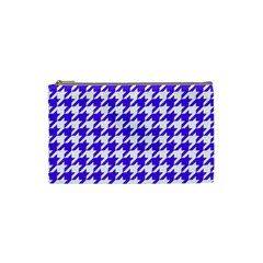 Houndstooth Blue Cosmetic Bag (Small)