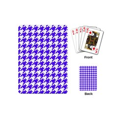 Houndstooth Blue Playing Cards (Mini)