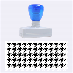 Houndstooth Blue Rubber Stamps (Large)