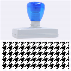 Houndstooth Blue Rubber Address Stamps (XL)