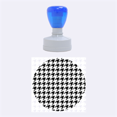 Houndstooth Blue Rubber Round Stamps (medium)