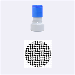 Houndstooth Blue Rubber Round Stamps (Small)