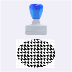 Houndstooth Blue Rubber Oval Stamps