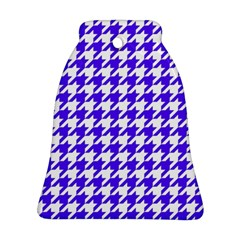 Houndstooth Blue Ornament (Bell)