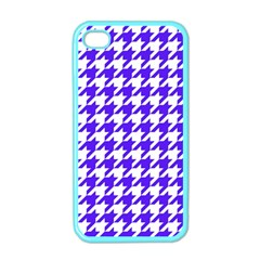Houndstooth Blue Apple iPhone 4 Case (Color)