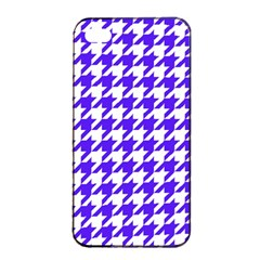 Houndstooth Blue Apple Iphone 4/4s Seamless Case (black)