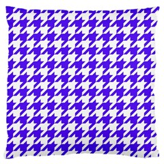 Houndstooth Blue Large Cushion Cases (Two Sides)