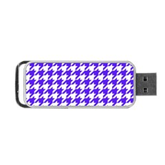 Houndstooth Blue Portable Usb Flash (two Sides)