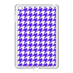 Houndstooth Blue Apple iPad Mini Case (White)