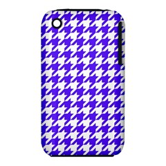 Houndstooth Blue Apple iPhone 3G/3GS Hardshell Case (PC+Silicone)