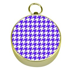 Houndstooth Blue Gold Compasses