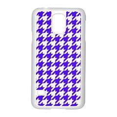 Houndstooth Blue Samsung Galaxy S5 Case (White)