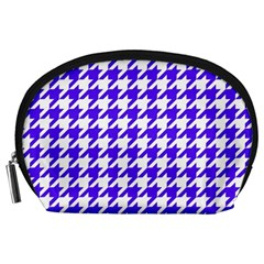 Houndstooth Blue Accessory Pouches (large)