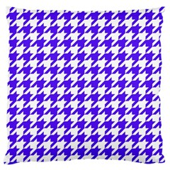 Houndstooth Blue Standard Flano Cushion Cases (two Sides)