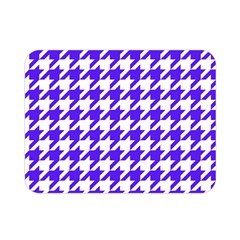 Houndstooth Blue Double Sided Flano Blanket (Mini)