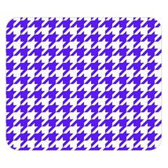 Houndstooth Blue Double Sided Flano Blanket (Small)