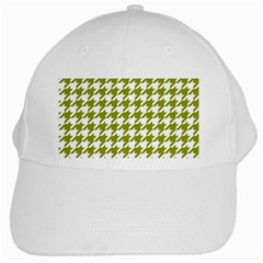 Houndstooth Green White Cap