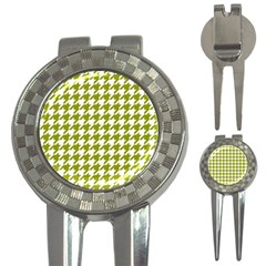 Houndstooth Green 3-in-1 Golf Divots