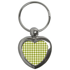 Houndstooth Green Key Chains (heart)