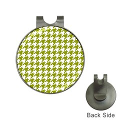 Houndstooth Green Hat Clips with Golf Markers